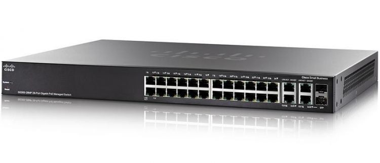 Коммутатор Cisco SG350-28MP (SG350-28MP-K9-EU)